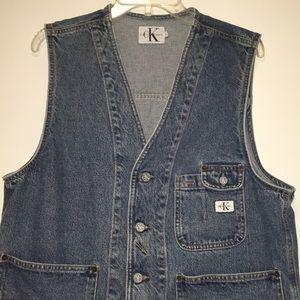 Vintage Retro Calvin Klein Denim Vest